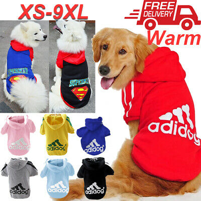 XS-9XL Pet Winter Coat Dog Warm Clothing Casual Cat Puppy Hoodie Sweater Adidog
