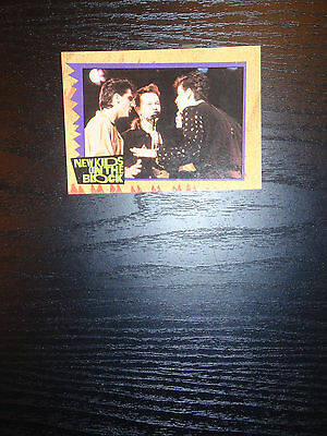 New Kids on the Block Topps (1989) 1 trading card #18 Wahlberg, Knight, McIntyre