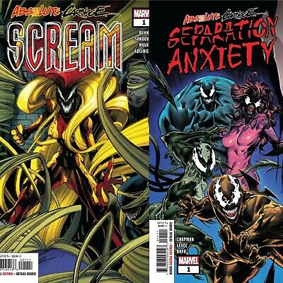 Absolute Carnage Scream #1 AND SEPARATION ANXIETY #1 MAIN COVER NM 2 COMIC BNDL