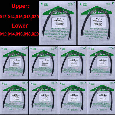 5Pack Dental Orthodontic Super Elastic Niti Wires Ovoid Form Arch Wire Round U/L