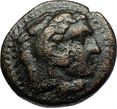 ALEXANDER III the GREAT 336BC Macedonia Ancient Greek Coin HERCULES CLUB i69720