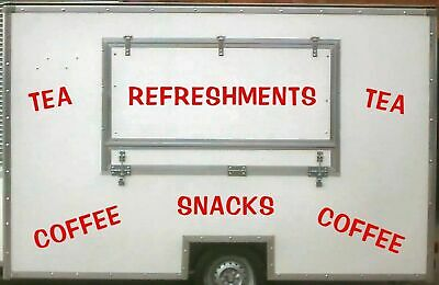Large Wording 2, Burger Van Stickers, Catering Trailer, Cafe, Catering.
