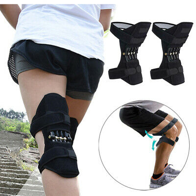 Patella Booster Spring Knee Brace Support For Mountaineering Squat Sports Gym UK