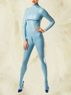 Latex  Rubber Suit Bodysuit uniform Ganzanzug Tight Catsuit Gummi Cosplay Rubber
