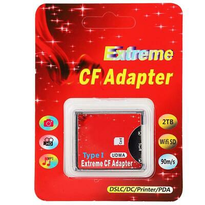 1x Portable Card Adapter WIFI to CF Compact Flash Memory Card Reader Adapter ABS