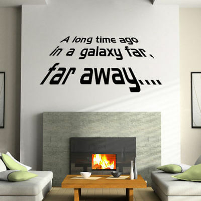 A long Time Ago Quote Star Wars Vinyl Art Wall Sticker Decals Home Decor FA3