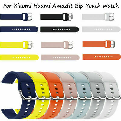 Silicone Watch Band Straps Wrist Solid for Xiaomi Huami Amazfit Bip Youth Watch