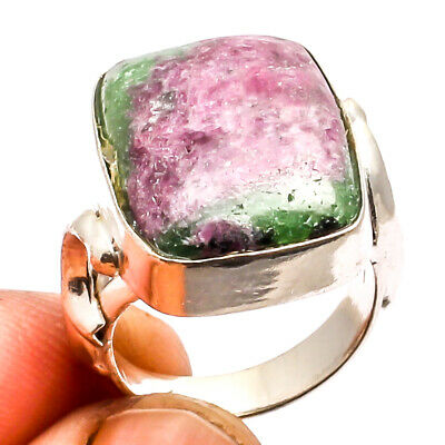 Ruby Zoisite Ring 925 Silver Plated Jewelry Sz7.5