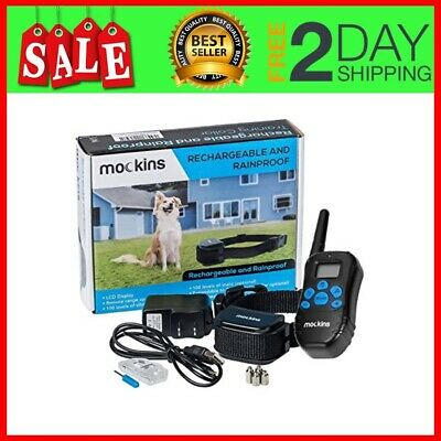 Dog Shock Training Collar with Remote LED Light,1000 ft Remote Range, Waterproof