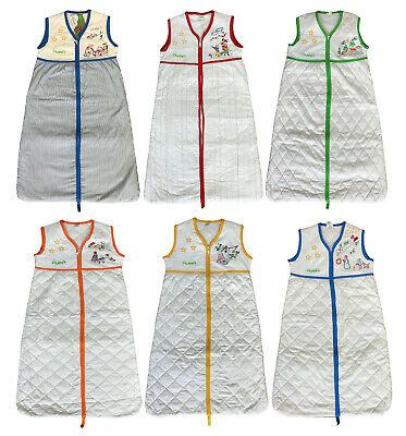 Baby Sleeping Bags Boys Girls 1.5 Tog Ex Store 6 Colours 12 18 24 36 Months New