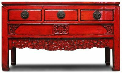 China Kommode Rot Ulmenholz (142 cm) Asiatisches Sideboard - AsienLifeStyle