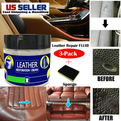 Leather Repair Cream Compound For Leather Restoration Cracks Burns and Holes US