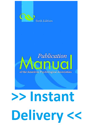 🎁 Publication Manual of the American Psychological Association, 6th Ed ✅EßOOK✅