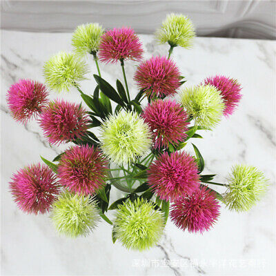 Artificial Flowers Real Touch Dandelion Fake Plants Flowers Home Decoration U009
