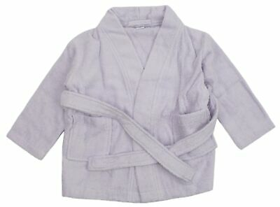 Baby Girls Towelling Dressing Gown Robe Age 1 Year Lilac