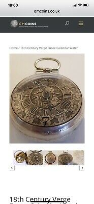 antique silver fusee pocket watch