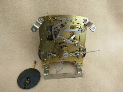 Vintage Smiths Enfield 8 Day Striking Clock Movement, Hands, And Pendulum