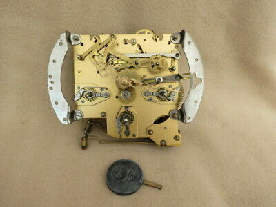 Vintage Smiths Enfield Westminster Chime Clock Movement, Hands, And Pendulum