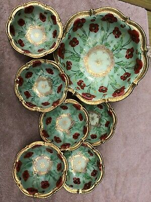 I E & C CO JAPAN Salad Dish and 6 bowls Peony