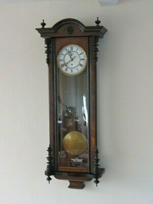 Large Antique Single Weight Vienna The Farringdon Regulator For Spares Or Repair