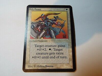 MAGIC THE GATHERING, MTG ALPHA WHITE COMMON CARD HOLY ARMOR ex-nm