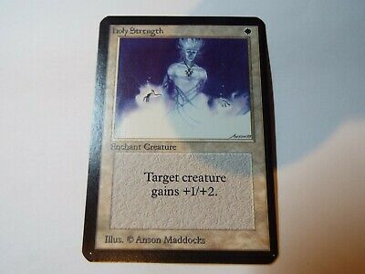 MAGIC THE GATHERING, MTG ALPHA WHITE COMMON CARD HOLY STRENGTH ex-nm