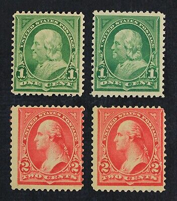CKStamps: US Stamps Collection Scott#279 279B 1c 2c Mint NH OG