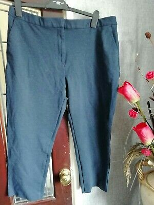 Ladies Classic M&S Cropped Trousers 18 New***