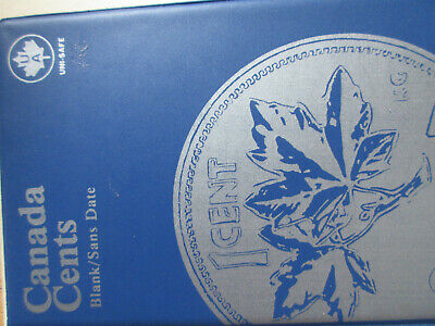 Set of Canada Small Cents (1920-2012). 89 Pennies In BLUE UNI-SAFE FOLDER (SR13)