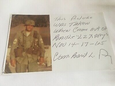 WE WERE SOLDIERS Basil Plumley Signed Color GREAT CONTENT PHOTO