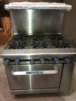Imperial 6 Plate Kitchen Food Gas Oven Industrial