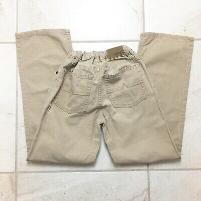 Boys Urban Pipeline Khaki Jeans - Adjustable Waistband - Straight Leg - Size 12