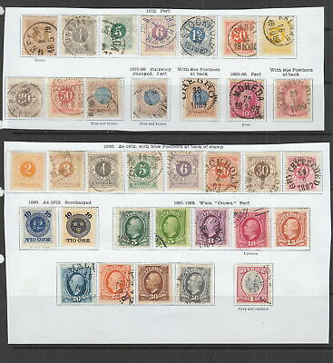 Sweden  1872 - 1903 collection