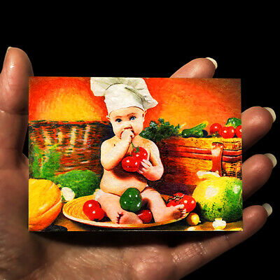 original painting acrylic oil art picture drawing child ACEO little boy by GG