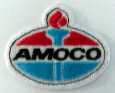 "VINTAGE AMOCO  OIL GAS COMPANY  TORCH PATCH  3 x 2.5 "" SHOP WORN NICE CONDITION"