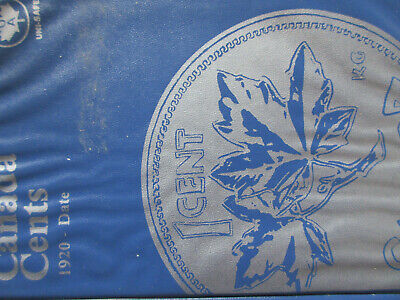 Set of Canada Small Cents (1920-2012). 89 Pennies In BLUE UNI-SAFE FOLDER (SR15)