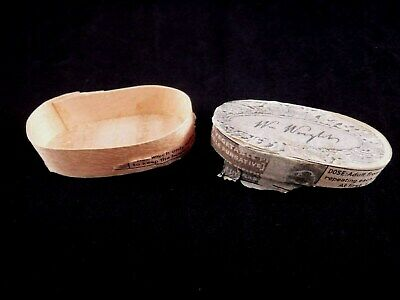 Vintage William Wright Indian Vegetable Purgative Pill Box Nisqually Tribe
