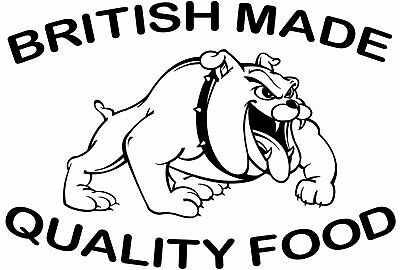 British Made Graphic, Burger Van Stickers, Catering Trailer, 740mm x 500mm