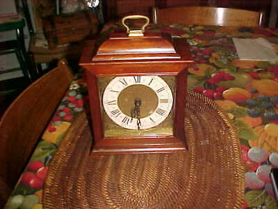 Vintage Seth Thomas Wooden Mantle Clock Exeter W E538-001 WIND UP Chime