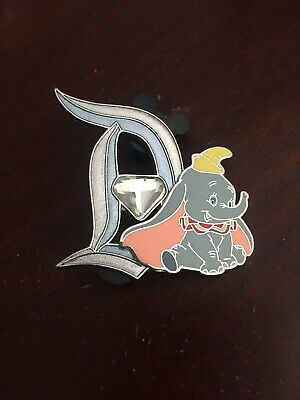Disney Disneyland Diamond 60th Dumbo The Flying Elephant Diamond D Pin LE3000