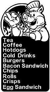 Menu Chef Decal 2 Cafe Decal, Takaway Stickers/Vinyl Graphic 930mm x 500mm