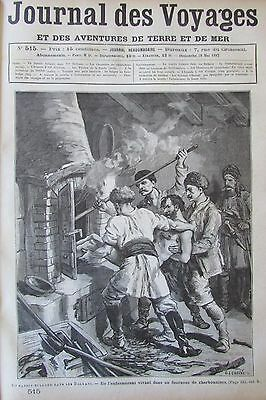 Journal of Voyages No No 515 of 1887 Bulgaria Torture Bandit Balkan/L Iceland