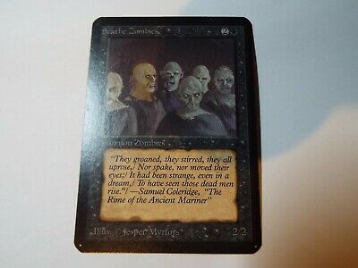 MAGIC THE GATHERING, MTG ALPHA BLACK COMMON CARD SCATHE ZOMBIES, ex-nm
