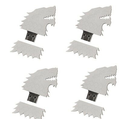 Game of Thrones 8 BFF Lot Set House Stark Sigil Direwolf USB Flash Drive HBO 4GB
