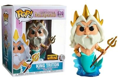 Funko Pop! 570 Disney Little Mermaid King Triton 6 Inch Hot Topic Exclusive NEW