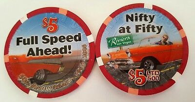 $5 Las Vegas Riviera Nifty at Fifty Casino Chip - UNC