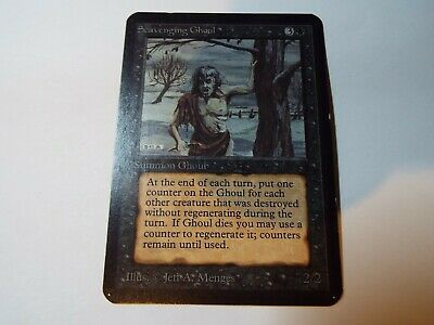 MAGIC THE GATHERING, MTG ALPHA BLACK UNCOMMON CARD SCAVENGING GHOUL, lp