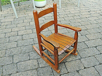 Vintage 1950's Child's Rocking Chair, Family Owned, Handmade, Very Nice, LOOK!
