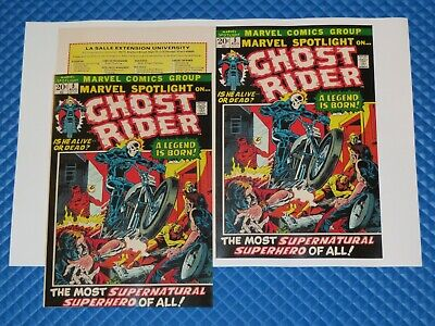 Marvel Spotlight #5 Ghost Rider Beautiful Repro Cover Only With All Original Ads