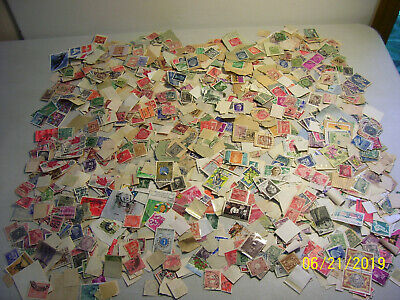 Old Vintage Unchecked and Unsearched Lot of Used Off Paper Worldwide Stamps